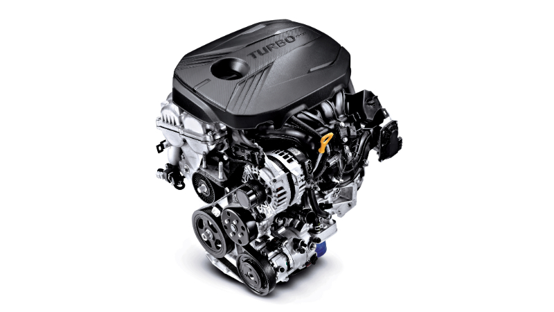 Gamma 1.6 T-GDi turbo petrol engine.