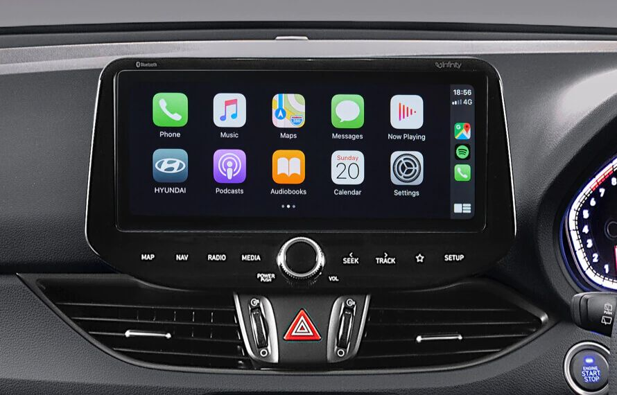 10.25 touchscreen with Apple CarPlay™<sup>[P1]</sup>& Android™ Auto<sup>[P2]</sup>