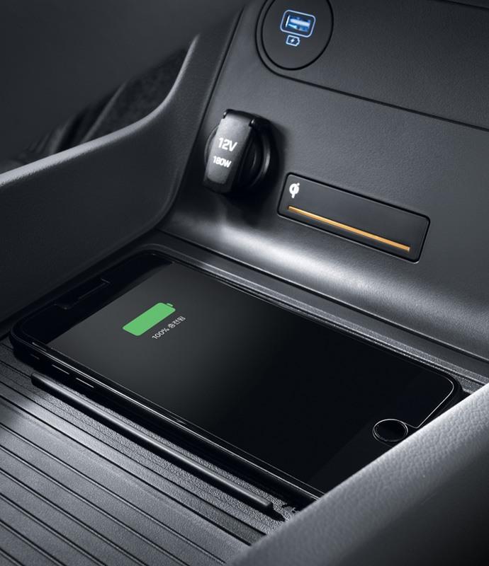 Wireless smartphone charging.