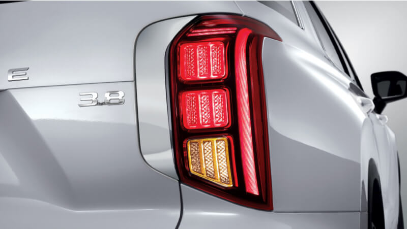 LED rear combination lights.
