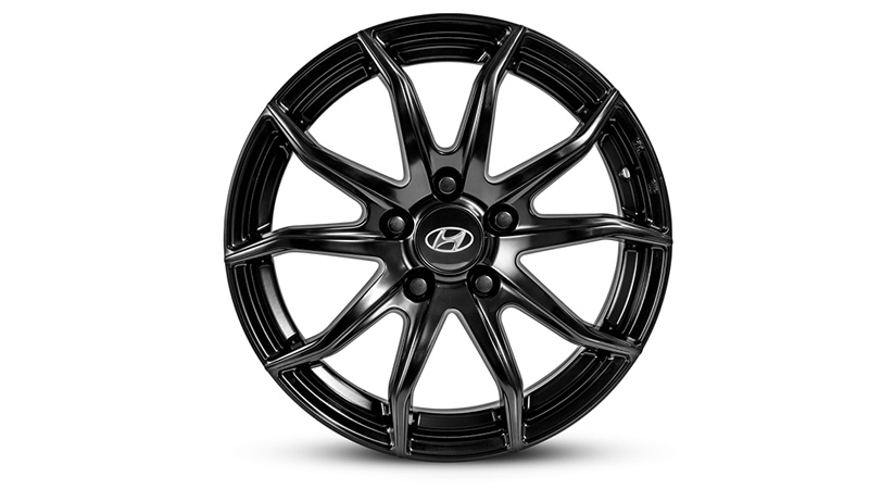 17 inch Gunsan Satin Black Alloy Wheel.