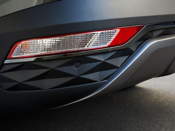 Parametric-patterned rear bumper.