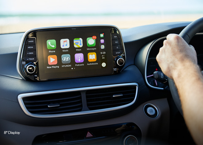 Apple CarPlay<sup>TM[P1]</sup> and Android<sup>TM[P2]</sup> Auto compatibility.