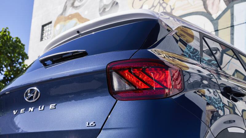 LED rear combination lights.