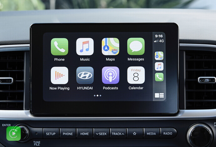 Apple CarPlay™<sup>[P1]</sup> and Android™ Auto<sup>[P2]</sup> compatibility.